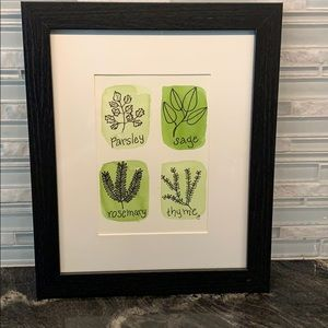 Framed Original Watercolor Painting